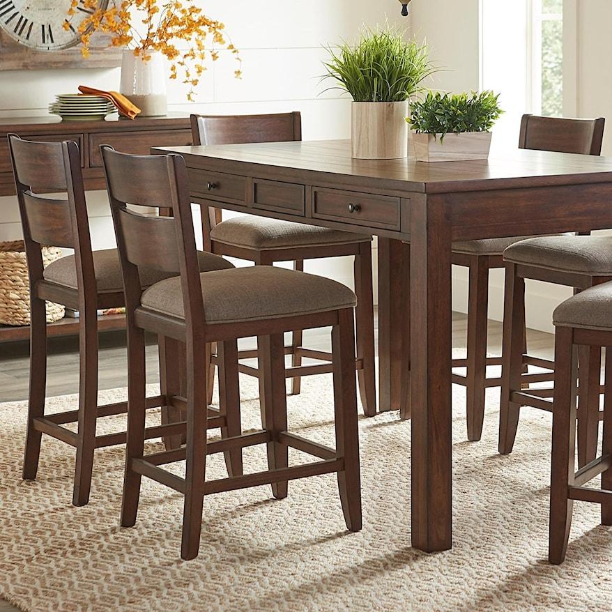 5 Piece Counter Height Rectangular Dining Set
