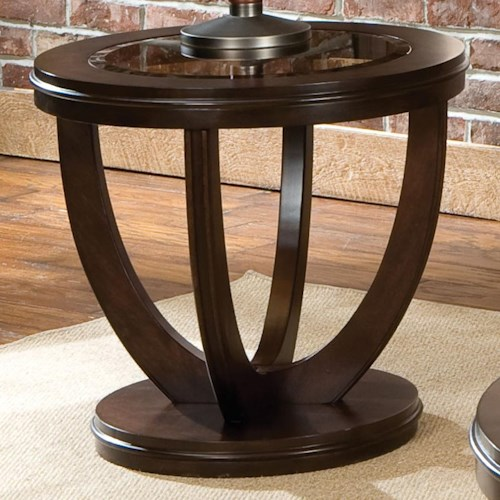 Standard Furniture La Jolla Round End Table With Gl Top