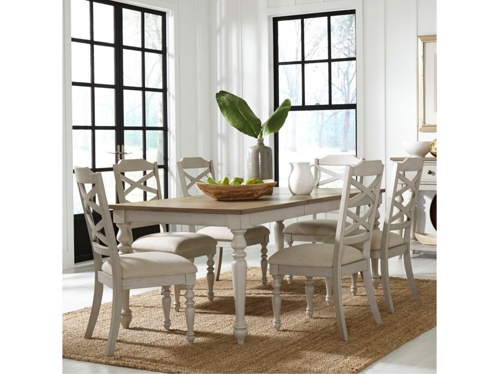 Standard Furniture Larson Light7 Piece Table and Chair Set
