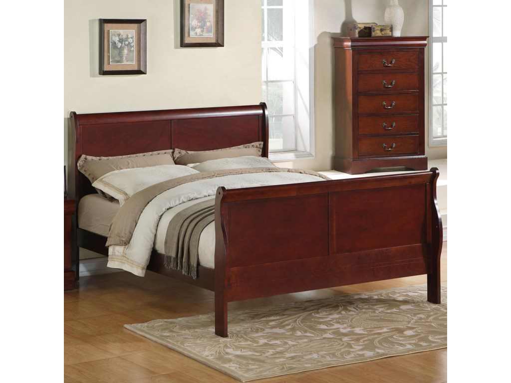Standard Furniture Lewiston Queen Sleigh Bed Coconis Furniture