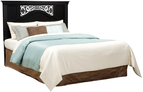 Standard Furniture Madera Full/Queen Panel Headboard Bed with Plastic Grille