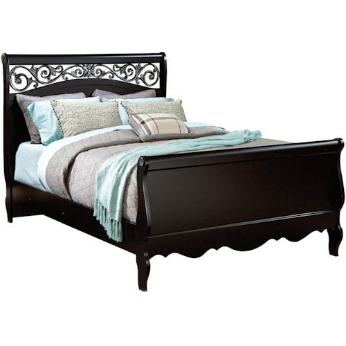 Standard Furniture Madera King Sleigh Bed with Plastic Grille