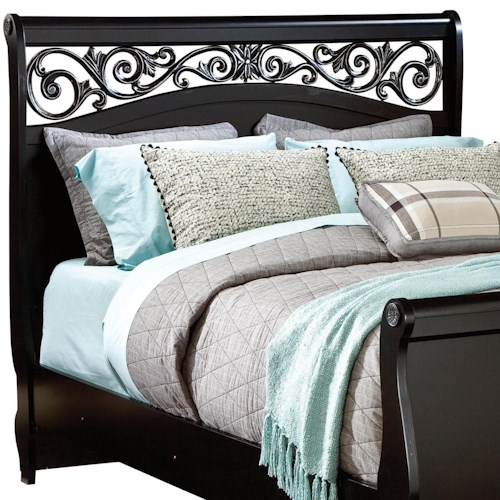 Standard Furniture Madera Queen Sleigh Headboard with Plastic Grille
