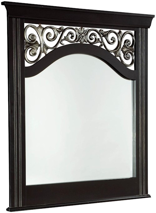 Standard Furniture Madera Panel Mirror with Grille