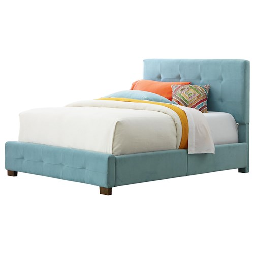 Standard Furniture Madison Twin Youth Upholstered Bed with Tufting