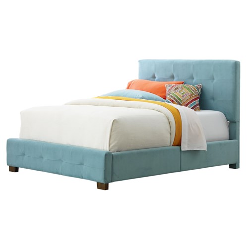 Standard Furniture Madison Full Youth Upholstered Bed with Tufting
