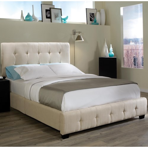 Standard Furniture Madison Square Queen Microfiber Upholstered Bed