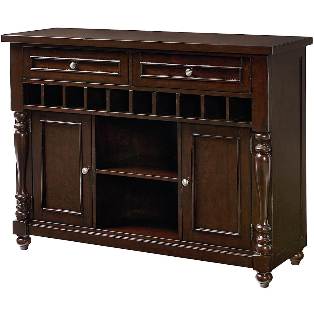 Standard Furniture Mcgregor 17722 Buffet With 10 Bottle Wine Rack  # Buffet Metal Rouge