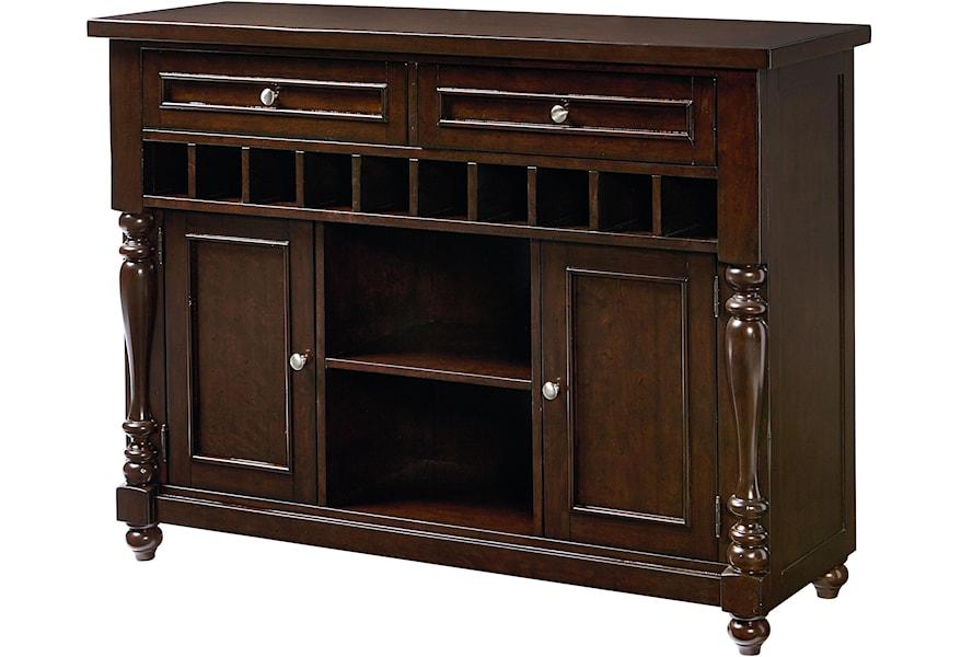 Standard Furniture Mcgregor Buffet With 10 Bottle Wine Rack