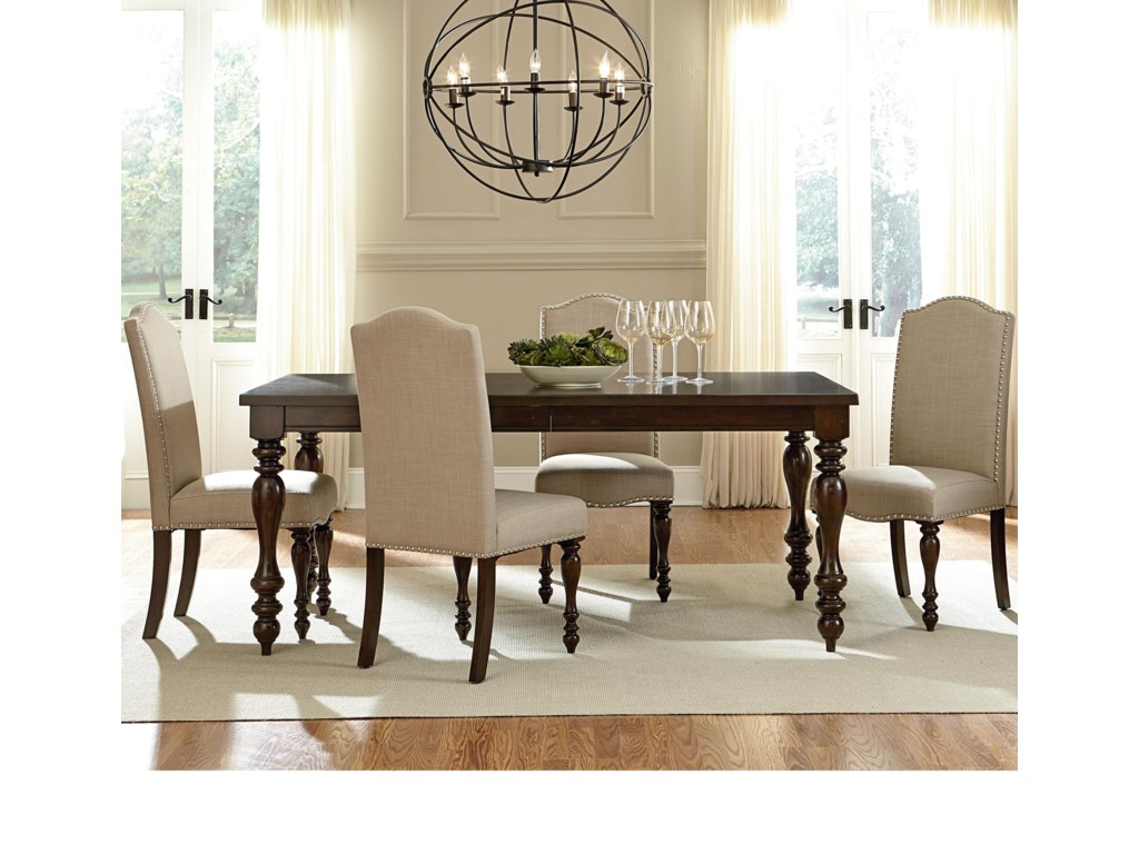 Mcgregor Dining Table And 4 Side Chair Set By Standard Furniture At Dunk Bright Furniture