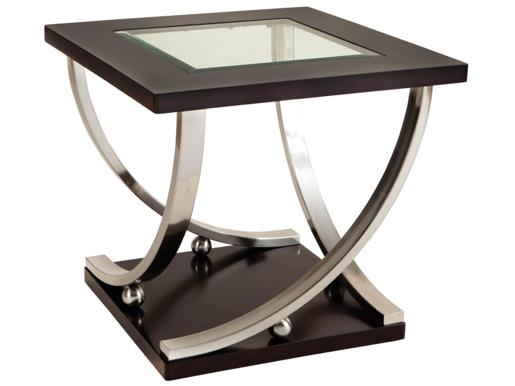 Standard Furniture MelroseEnd Table with Glass Top