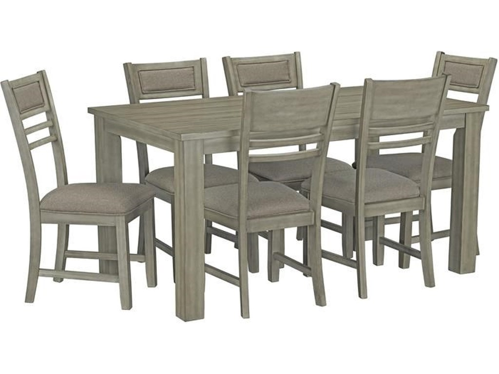 Standard Furniture Mill Creek Dining Table With Six Chairs Royal Furniture Casual Dining Room Groups