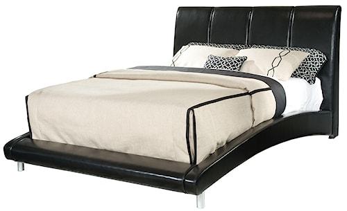 Standard Furniture Moderno Queen Upholstered Platform Bed with Arched Rails