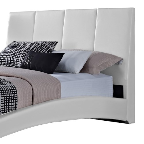 Standard Furniture Moderno  Queen Upholstered Headboard with Vertical Panels