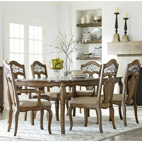 Standard Furniture Monterey 7 Piece French InspiredTable and Chair Set