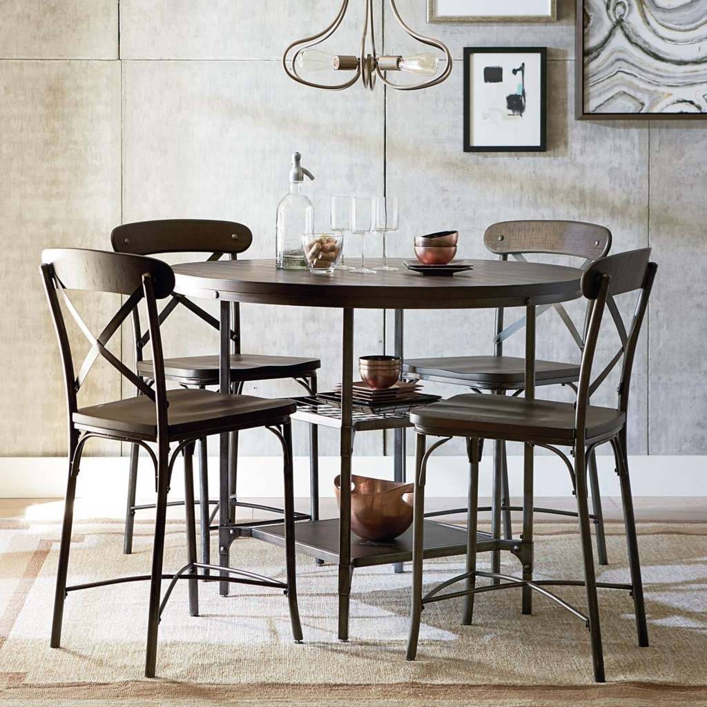 standard furniture montvale rustic bar height dining set