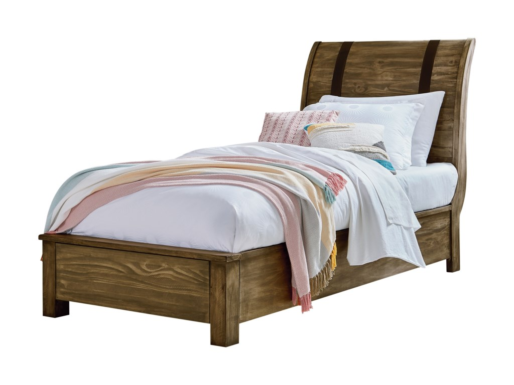 Standard Furniture Nelson Rustic Twin Sleigh Bed | Dunk & Bright ...