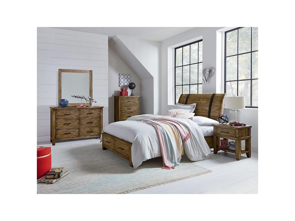 Standard Furniture NelsonFull Sleigh Storage Bed