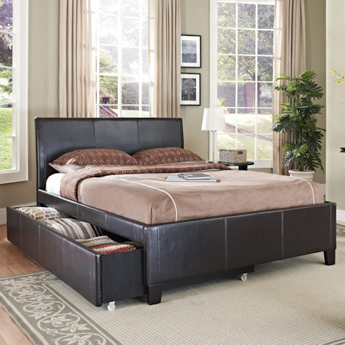 Standard Furniture New York Full Brown Trundle Bed | Wayside ...