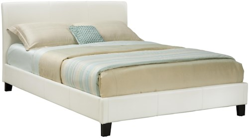 Standard Furniture New York  King Ivory Upholstered Bed