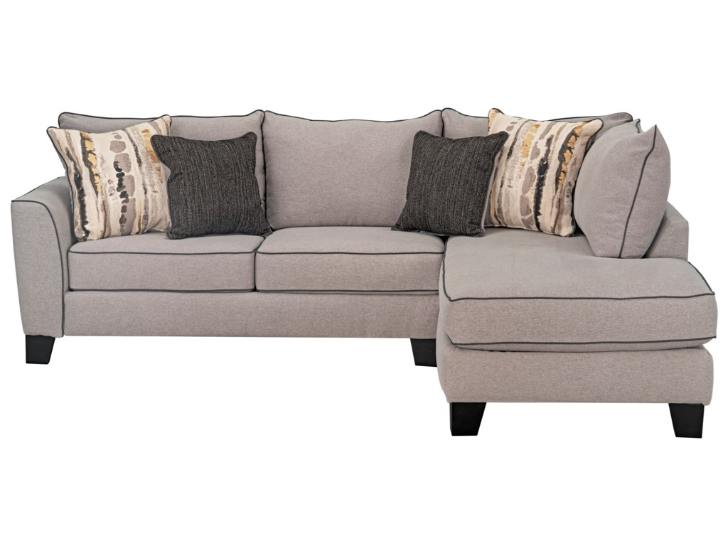 Standard Furniture Nicolette Contemporary Sectional Sofa with Flared ...