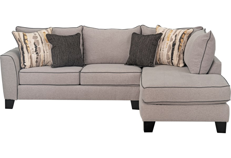 Standard Furniture Nicolette Contemporary Sectional Sofa ...