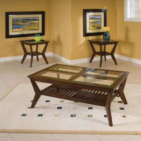 3-Pack Cocktail Table & 2 End Tables