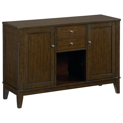 Standard Furniture Noveau Modern Sideboard with Merlot Finish