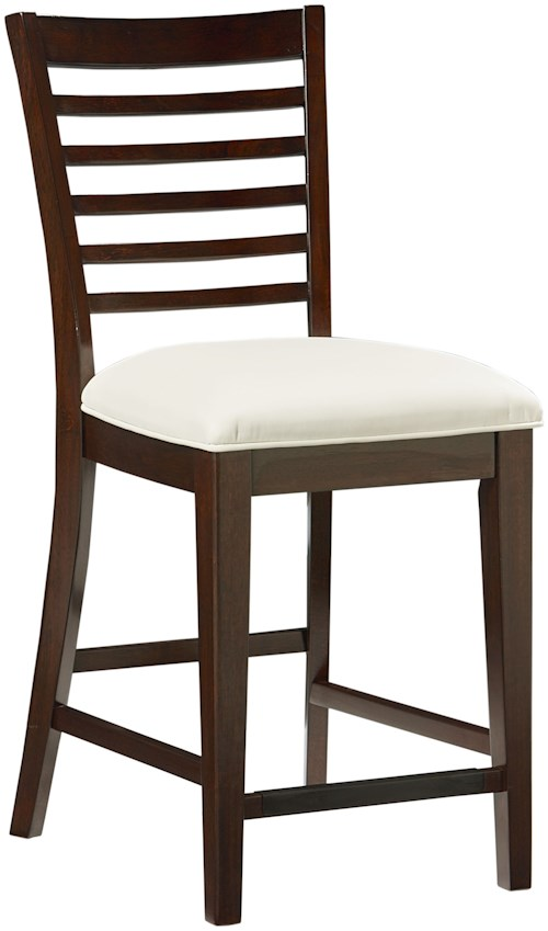 Standard Furniture Noveau Counter Height Stool with Ladder Back