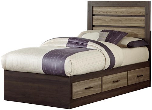 Standard Furniture Oakland Contemporary Twin Captain's Bed