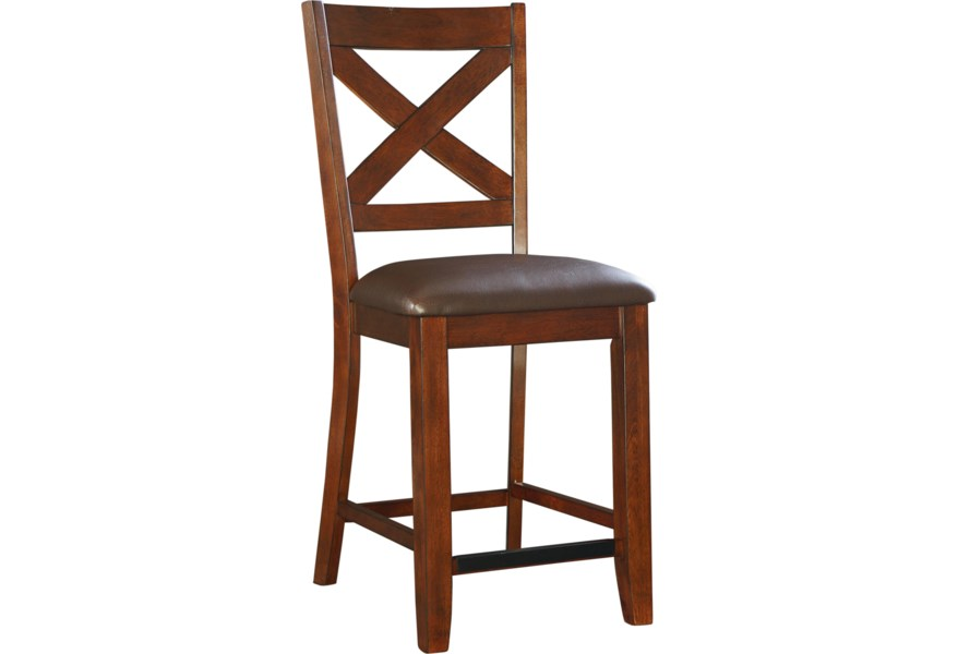 Marvelous Standard Furniture Omaha Brown 16194 Counter Height Bar Gamerscity Chair Design For Home Gamerscityorg
