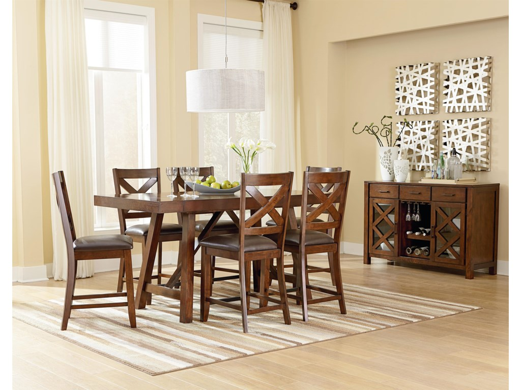 Standard Furniture Omaha BrownCounter Height Table Set