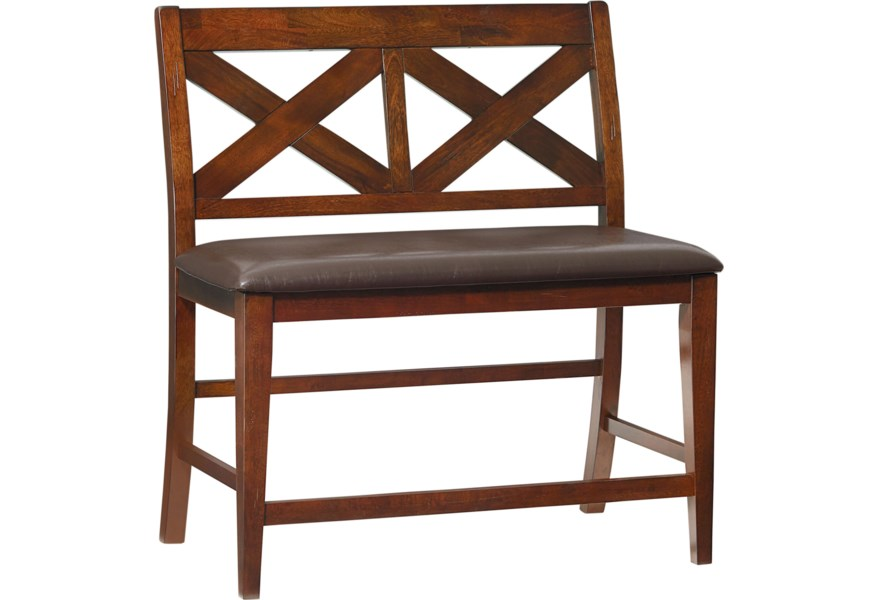 Omaha Brown Counter Height Dining Bench
