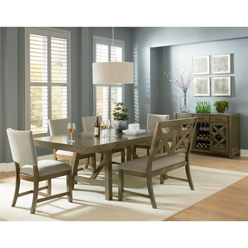 Standard Furniture Omaha Grey Casual Dining Room Group