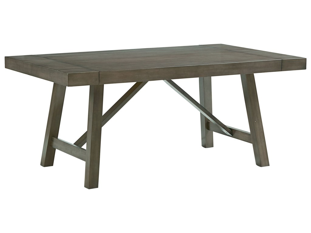 Standard Furniture Omaha GreyTrestle Table Dining Set