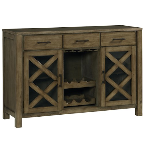 Standard Furniture Omaha Grey Casual Sideboard