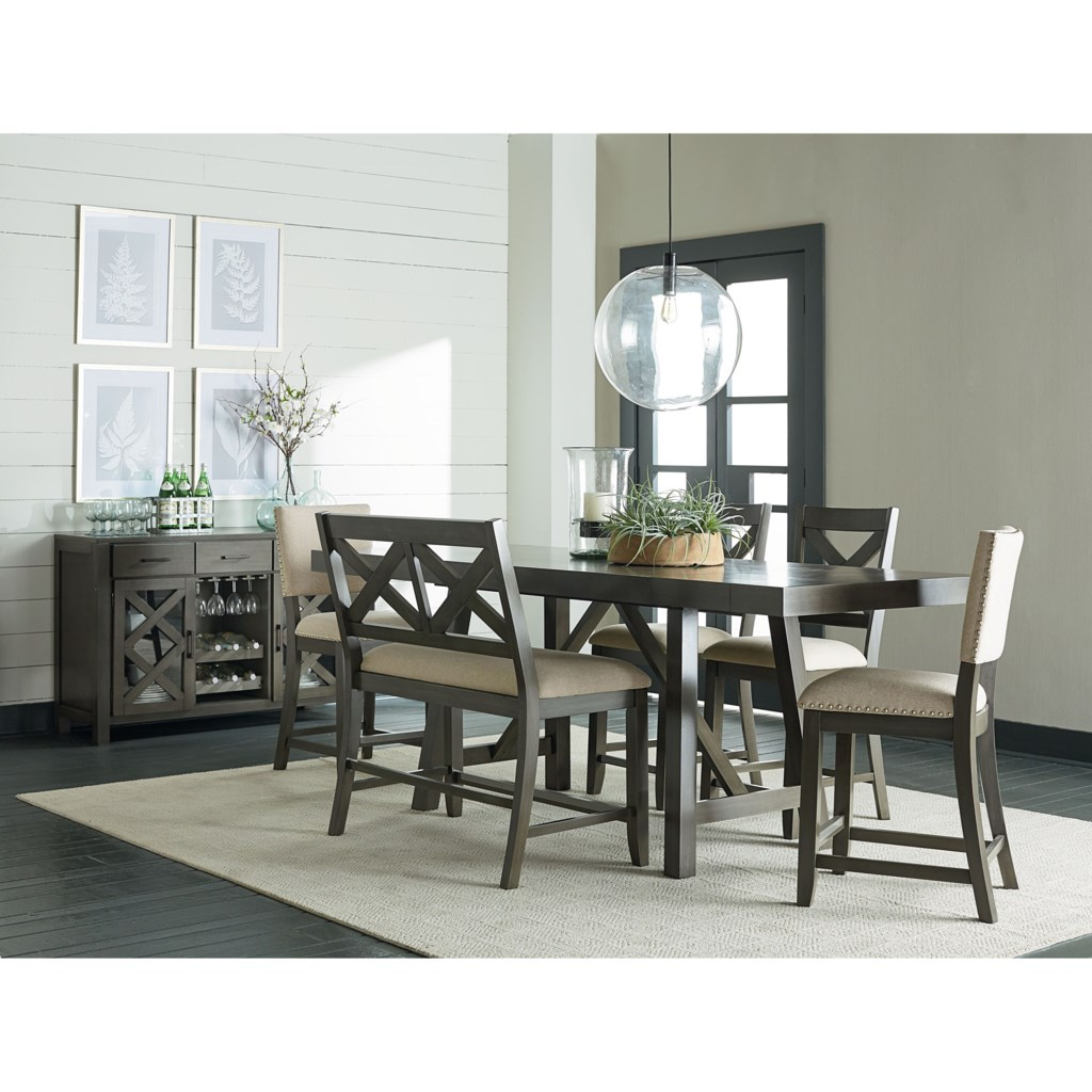 Standard furniture omaha greycounter height dining set
