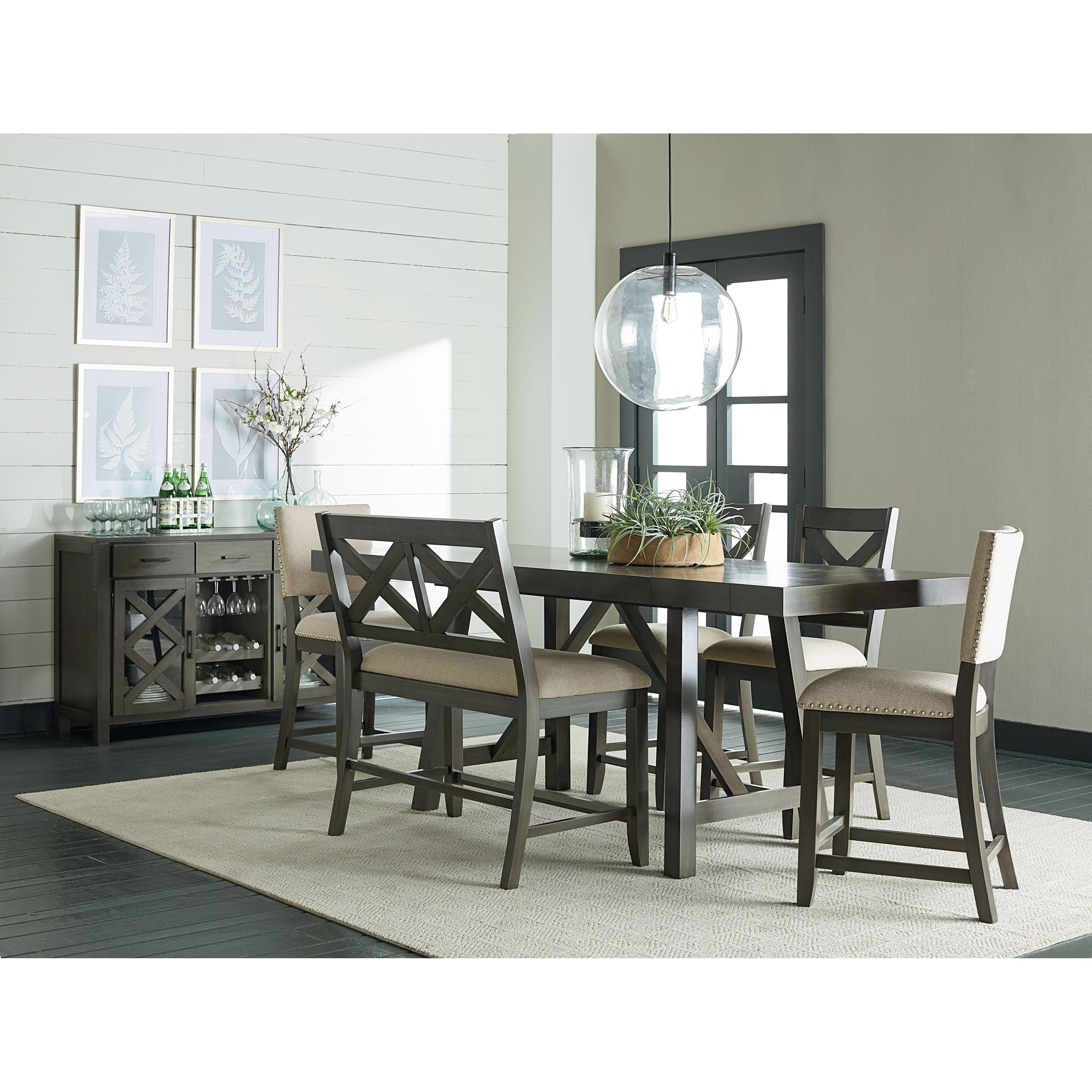 Standard Furniture Omaha GreyCounter Height Dining Set ...