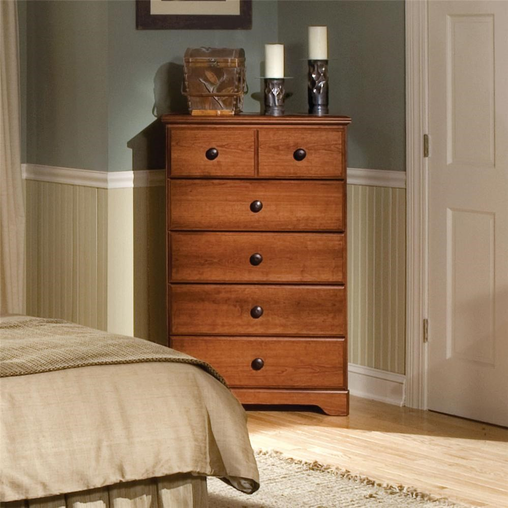 Attractive Standard Furniture Orchard Park 58705 5 Drawer Vertical Chest | Dunk U0026  Bright Furniture | Chest Of Drawers
