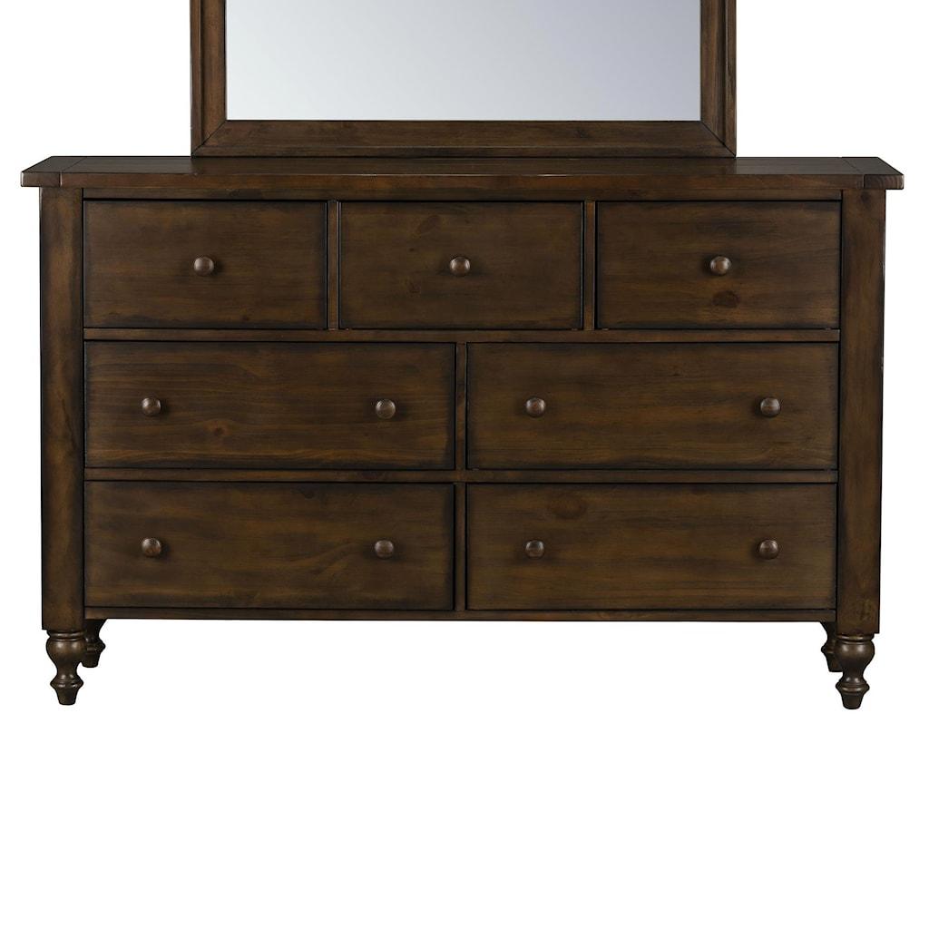 Standard Furniture Paisley Court Traditional Five Drawer Dresser