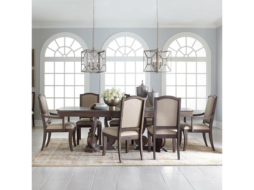 Standard furniture parliament french country table and chair set dunk bright furniture dining 7 or more piece sets