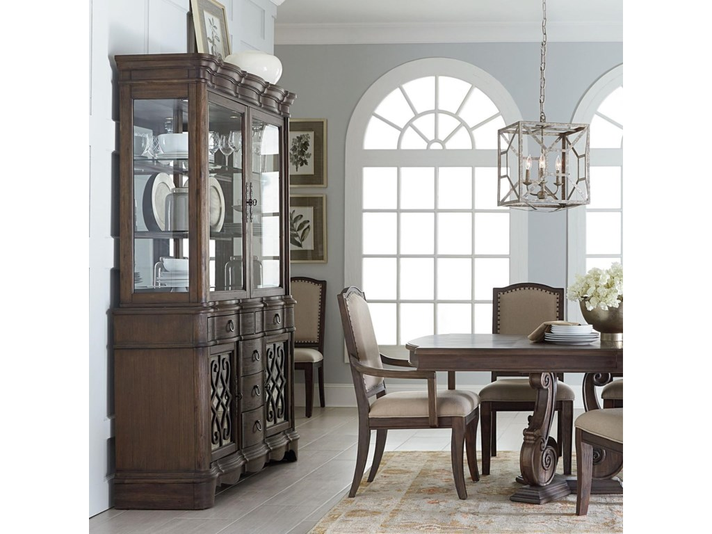 Standard Furniture Parliament Buffet And Hutch With Glass Doors