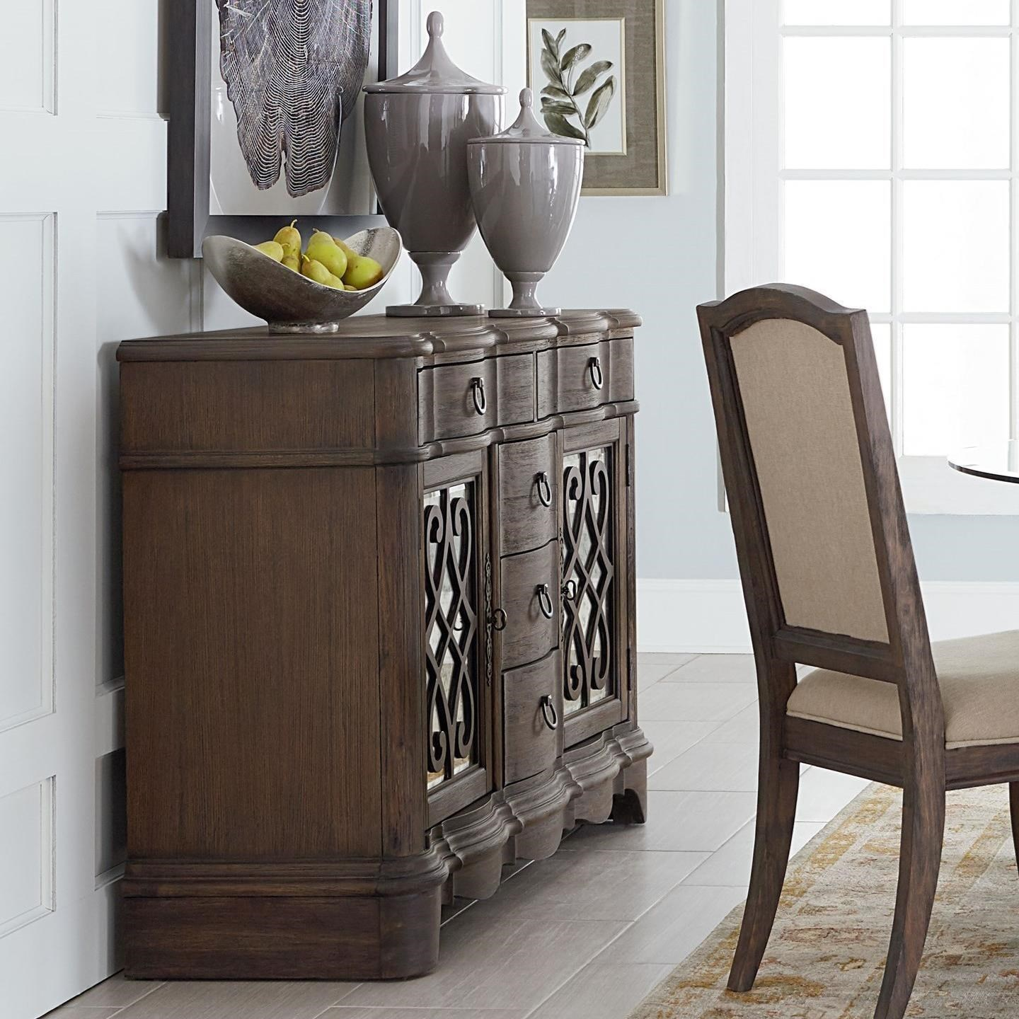 Standard Furniture Parliament Buffet with Fretwork Doors & Standard Furniture Parliament Buffet with Fretwork Doors | Standard ...
