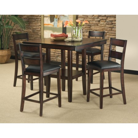 5-Piece Counter Table and Stool Set