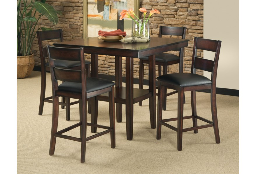 Pendwood 5-Piece Contemporary Counter Height Table and Stool Set by  Standard Furniture at Standard Furniture
