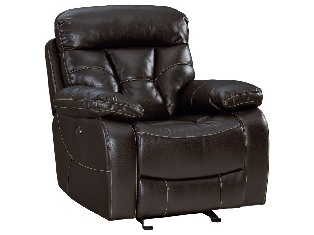 Peoria Traditional Glider Recliner With Pillow Arms By Standard Furniture