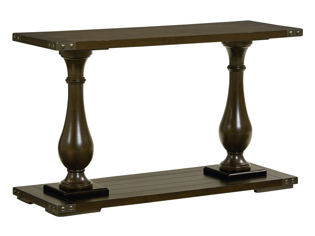 Standard Furniture Pierwood Console Table With Pillar Legs - Standard console table height