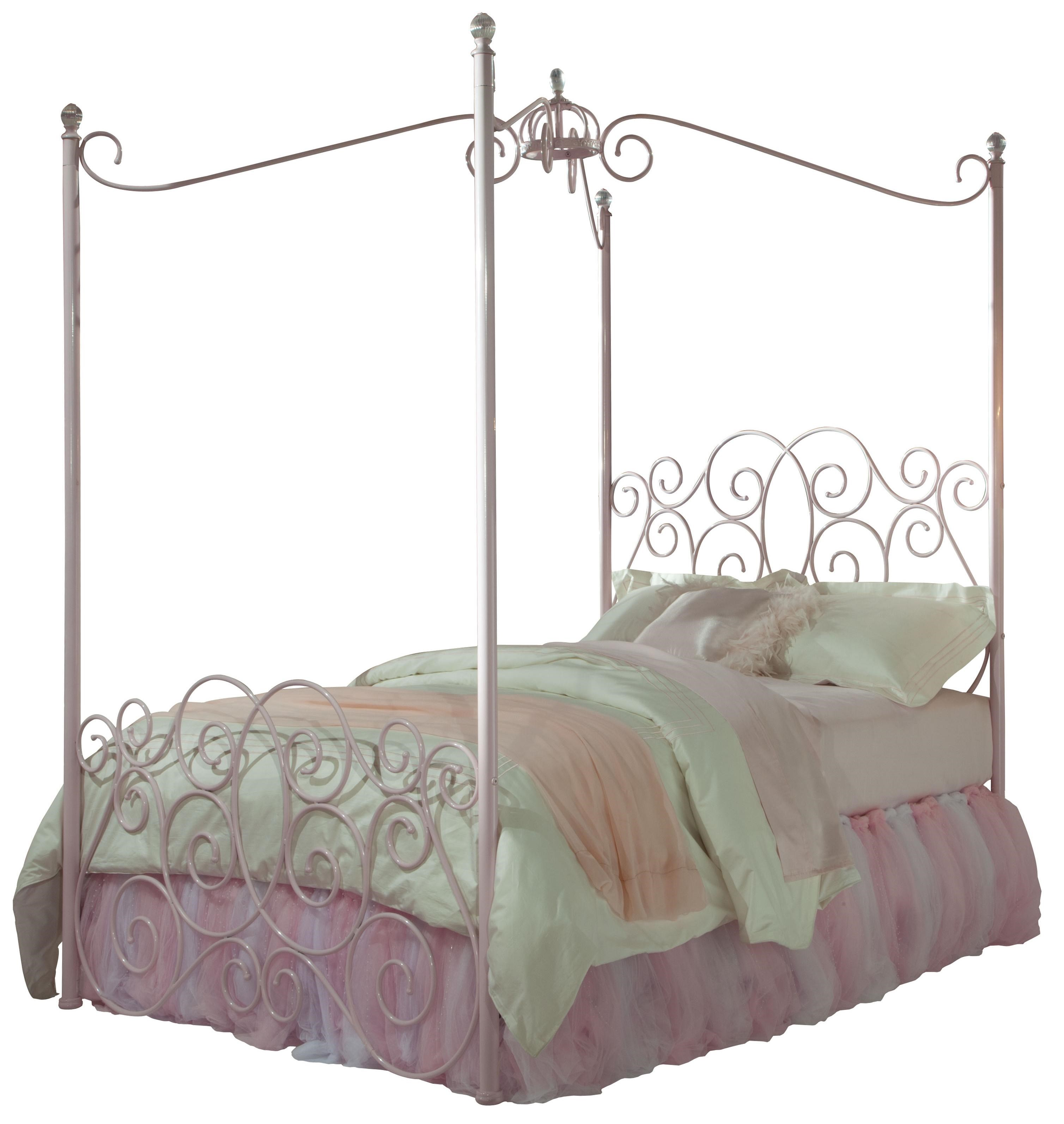 Standard Furniture Princess Canopy Beds Twin Metal Canopy Bed with Clear Post Finials  sc 1 st  Wayside Furniture & Standard Furniture Princess Canopy Beds Twin Metal Canopy Bed with ...