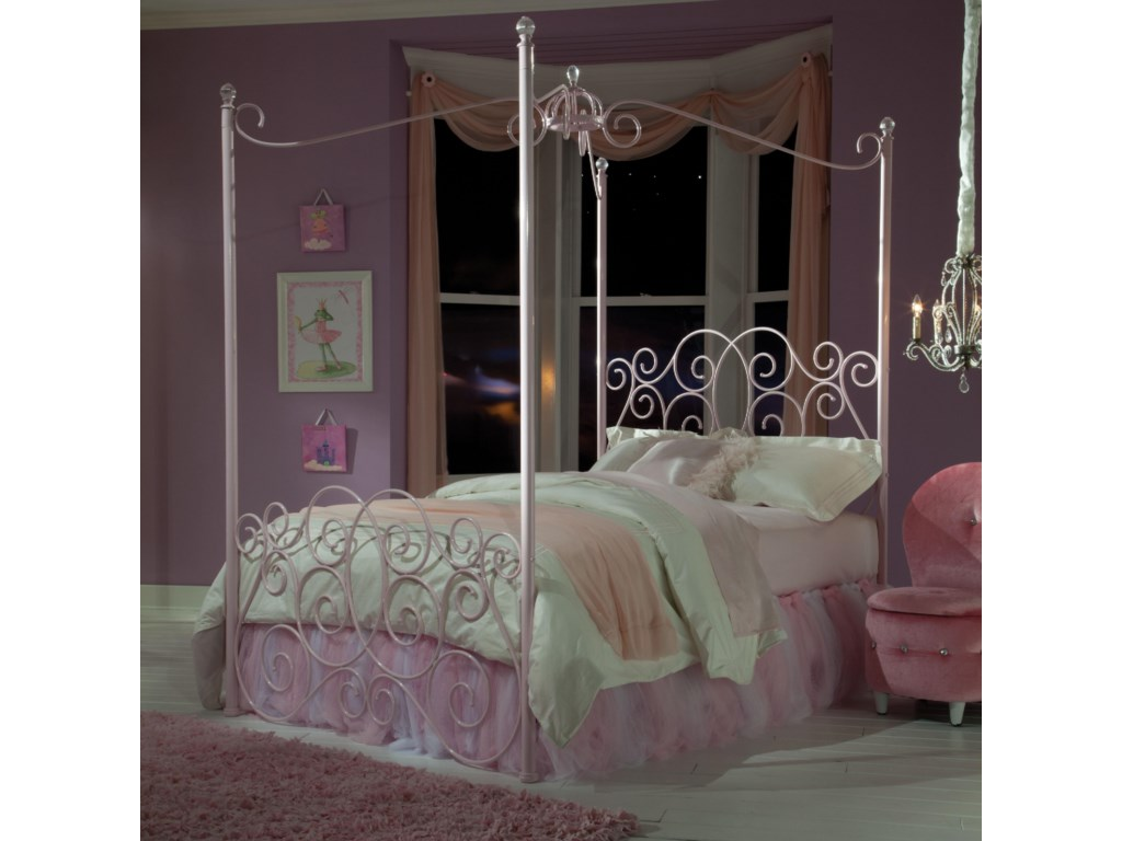 Standard Furniture Princess Canopy Bedstwin Metal Bed
