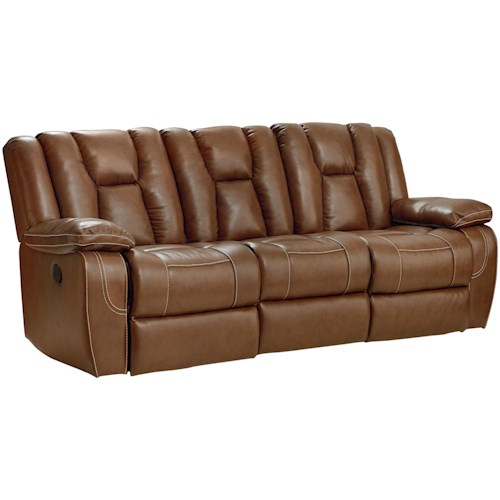 Standard Furniture Rainier Motion Sofa With Pillow Arms And Channeled Back